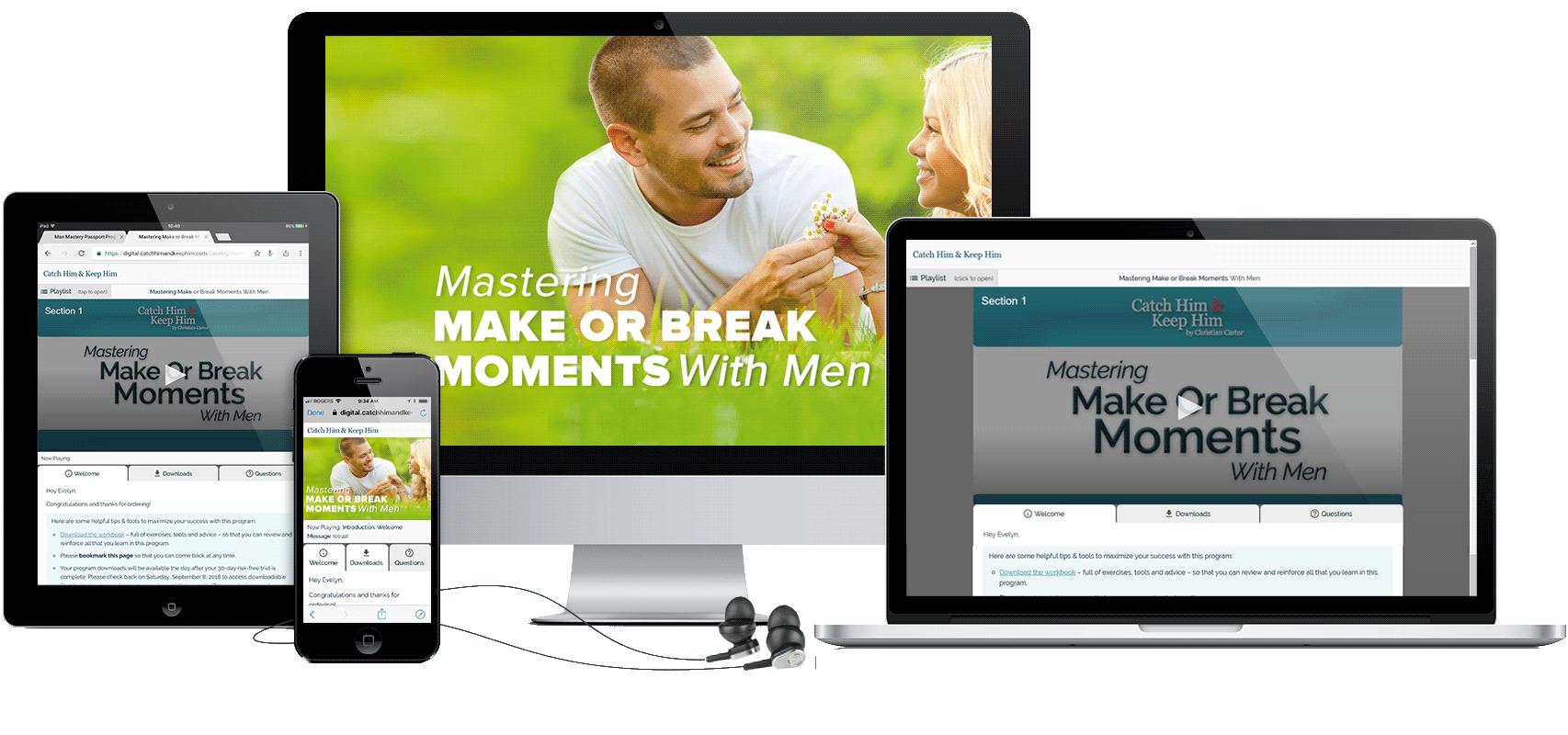 Mastering Make Or Break Moments With Men Program Display